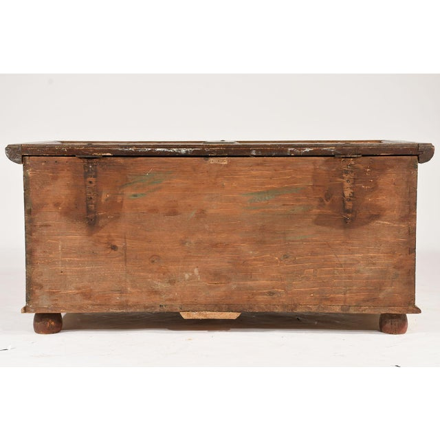 19th Century Scandinavian Polychrome Painted Trunk For Sale - Image 9 of 9