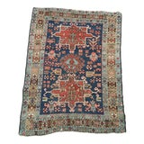Image of Antique Persian Heriz Blue Rug-3' X 4'1 For Sale