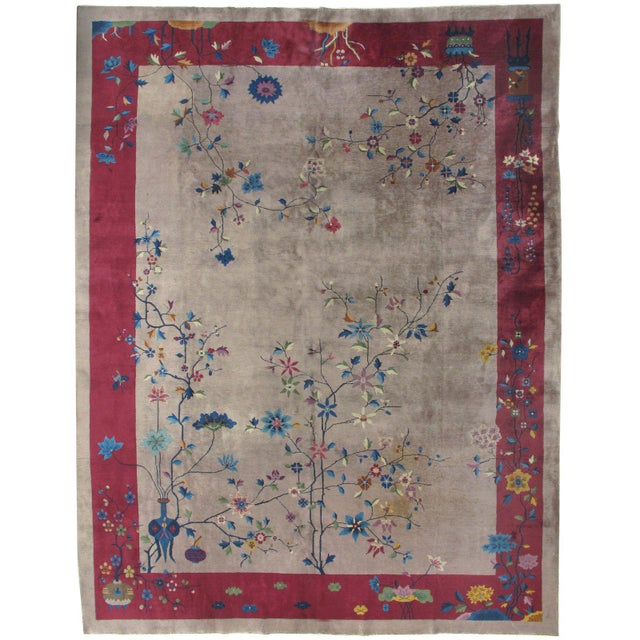 Art Deco Chinese Rug 8'10 X 11'5 For Sale In New York - Image 6 of 6