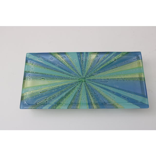 William Higgins Artisan Blue & Green Glass Box For Sale In West Palm - Image 6 of 7