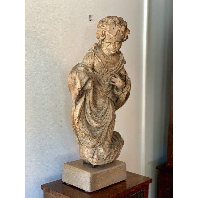 Gothic Antique Carved Architectural Figure For Sale - Image 3 of 8