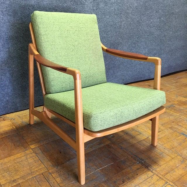 Light Green Mid-Century Modern Armchair - Image 2 of 7