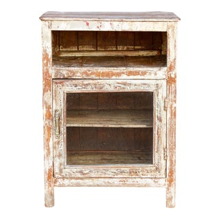 Shabby Chic Rustic Bedside Table For Sale