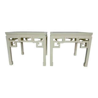 Pair of Chinese Inspired Side Tables For Sale