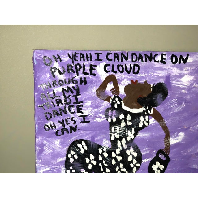 Purple Cloud Painting by Missionary Mary For Sale In Atlanta - Image 6 of 7