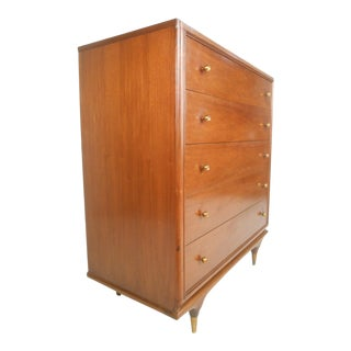 Mid-Century Modern Kent Coffey Continental Highboy Dresser For Sale