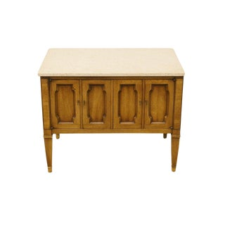Drexel Triune Collection Country French Marble Top End Table For Sale