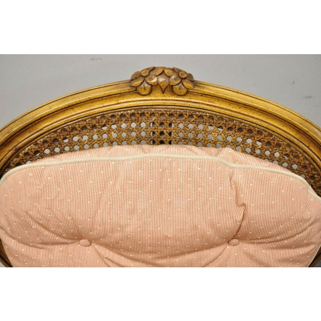 French French Louis XV Provincial Style Carved Walnut Cane Back Arm Chairs - a Pair For Sale - Image 3 of 11
