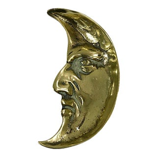 19th-C. English Brass Moon Coin Dish For Sale