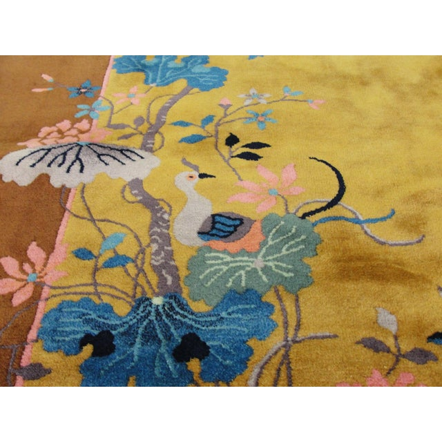 "Early 20th Century Chinese Art Deco Rug-5'10"" X 8'5"" For Sale - Image 5 of 9"