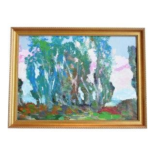 e529997e8709 Santa Barbara California Original Juan Guzman Plein Air Landscape Painting  For Sale