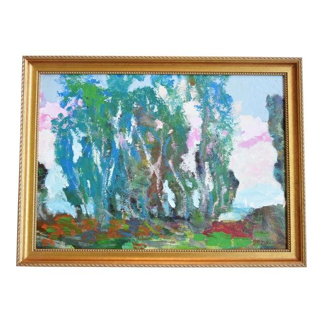 Santa Barbara California Original Juan Guzman Plein Air Landscape Painting For Sale