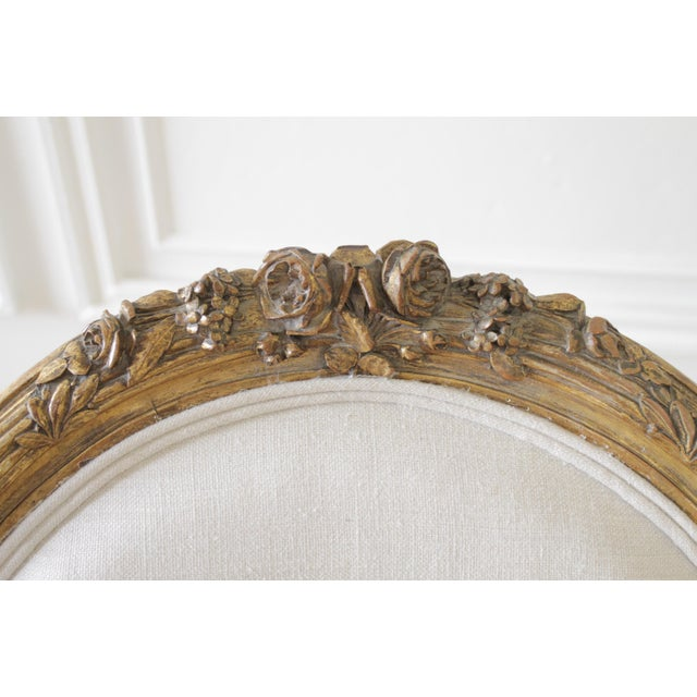 Wood 19th Century Carved Giltwood French Louis XV Style Open Arm Chairs For Sale - Image 7 of 13
