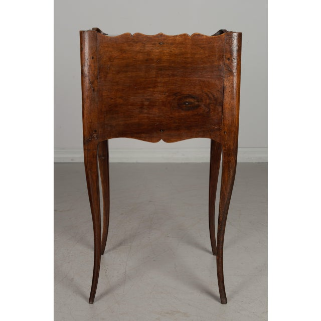 1930s 1930s French Louis XV Style Walnut Side Table For Sale - Image 5 of 9