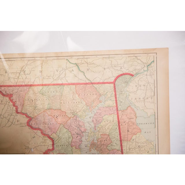Cram's 1907 Map of Maryland For Sale In New York - Image 6 of 8