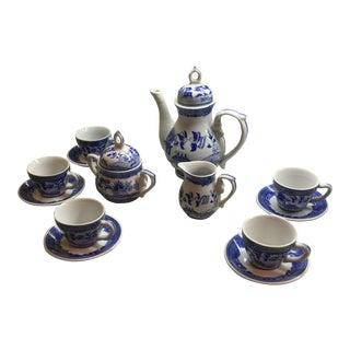 Vintage Victoria Ironstone Demitasse Tea Set