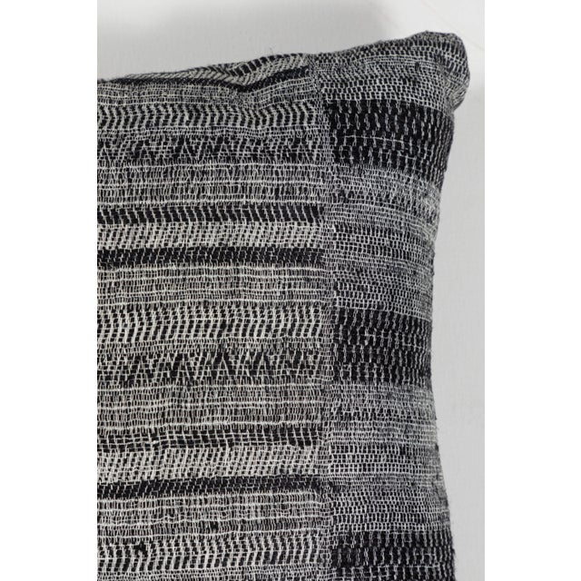 Boho Chic Indian Handwoven Textile Pillow For Sale - Image 3 of 5