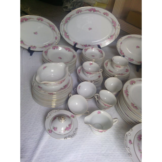 White Orion Fine China Dinnerware Set - 89 Pieces For Sale - Image 8 of 11