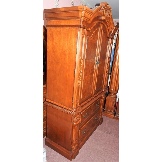 Luxury Cherry Tv Armoire & Dresser Set - Image 3 of 11