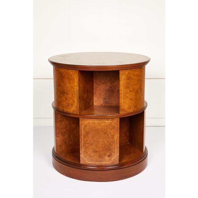 Revolving Circular Library Bookcase of Bird's-Eye Maple For Sale - Image 12 of 12