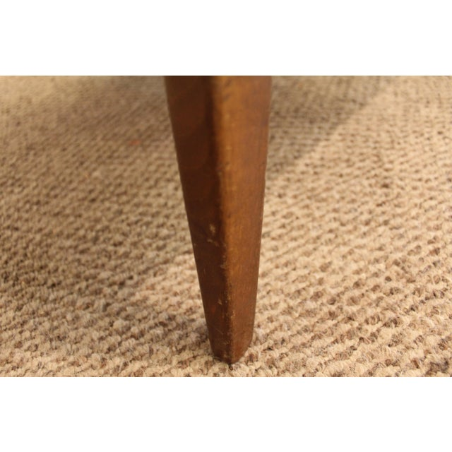 Mid-Century Danish Modern 'Citron' Walnut Open Arm Lounge Chair - Image 8 of 11