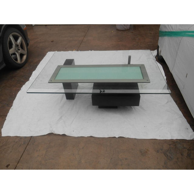 Metal Contemporary Abstract Cityscape Style Coffee Table For Sale - Image 7 of 7