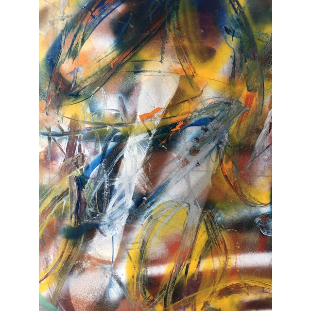 Abstract Original Abstract on Paper by Erik Sulander 36x50 For Sale - Image 3 of 4