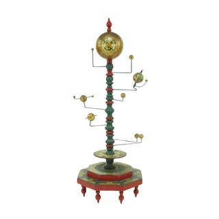 An Painted Wood and Metal Orrery. For Sale