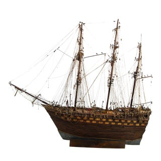 Hand-Crafted 18th-Century First Rate Ship Model