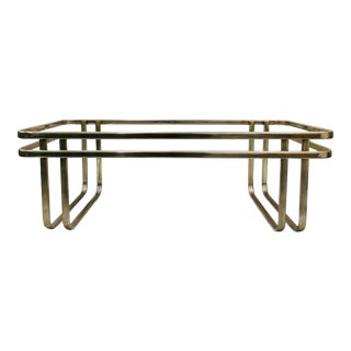 Vintage MCM Tubular Chrome Coffee Table For Sale
