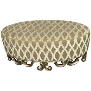 Christopher Guy Vuitton Cocktail Ottoman, in Italian Silver For Sale