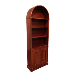 Regency Style Quality Mahogany Arch Top Bookcase For Sale