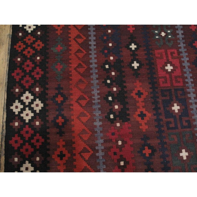 1980s Large Afghan, Uzbek Kilim For Sale - Image 5 of 6