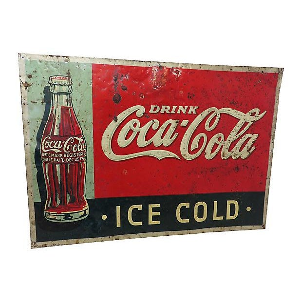 1920s Coca-Cola Advertising Sign - Image 4 of 6