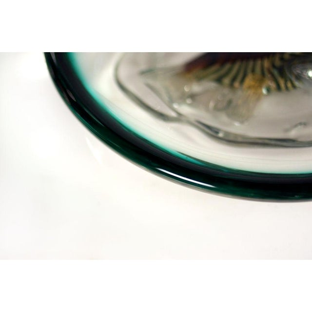 1960s Italian Glass 'Fish Bowl' Dish For Sale - Image 5 of 8