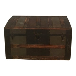 Antique American Brown Trunk