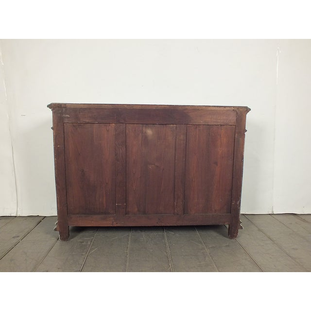 19th C. French Vintage Gray Credenza - Image 11 of 11