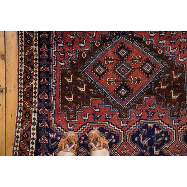 "Vintage Persian Afshar Rug - 3'6"" X 4'8"" - Image 2 of 8"