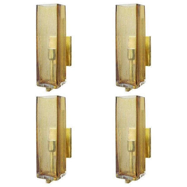 Set of Four Geometric Sconces by Fabio Ltd For Sale - Image 9 of 9