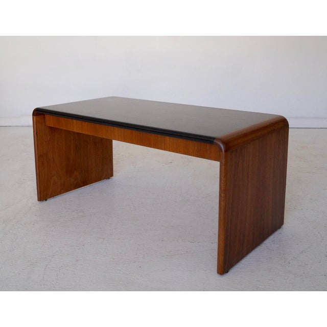 Mid-Century Teak Waterfall Edge Coffee Table - Image 7 of 11