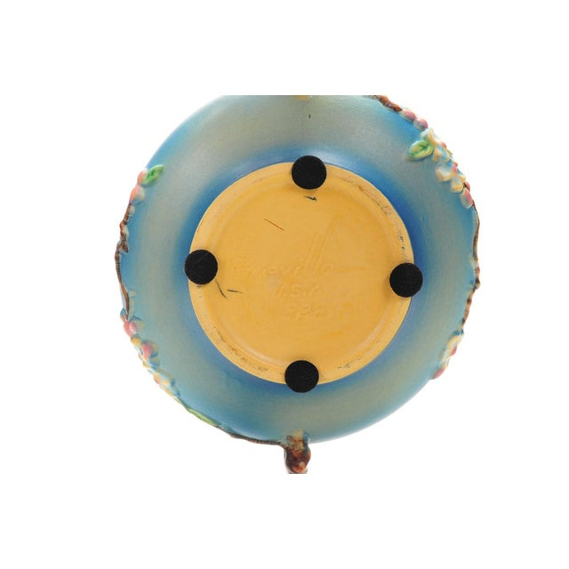 Antique Roseville Pottery Blue Bowl For Sale - Image 10 of 10