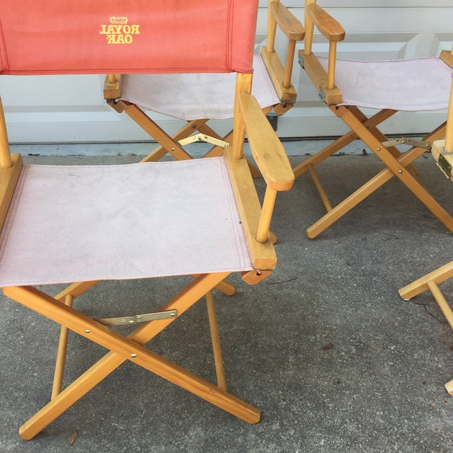 Campaign Style Cotton Royal Oak Chairs- Set of 4 For Sale In Atlanta - Image 6 of 6