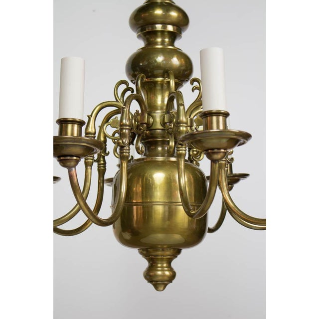 Early 20th Century Early 20th Century Dutch Style Eight Arm Chandelier For Sale - Image 5 of 10