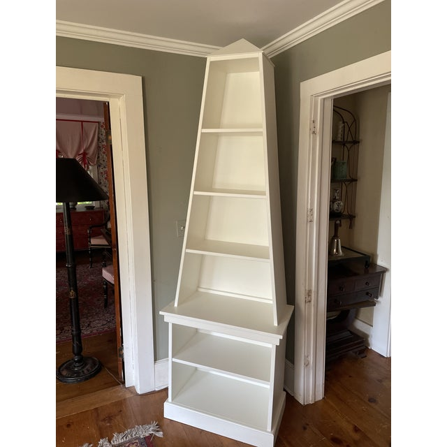 Irwin and Lane Obelisk Bookcase Etagere With Pyramid Top For Sale - Image 9 of 9