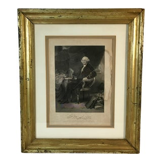 Late 19th Century Antique George Washington Engraving Print For Sale