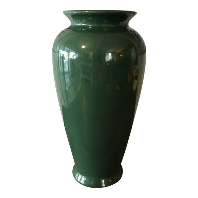 Vintage Tall Green Scheurich Vase Chairish