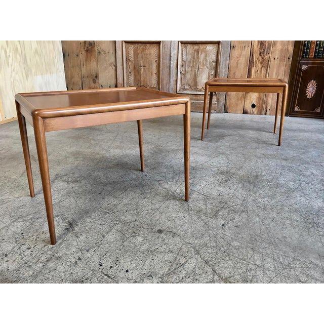 Mid-Century Modern Nesting Tables by t.h. Robsjohn-Gibbings for Widdicomb - A Pair For Sale - Image 3 of 11