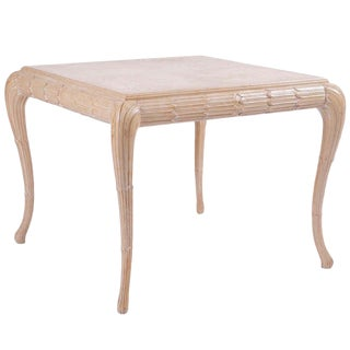 Exquisite Regency Style Carved Wood Table For Sale