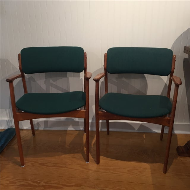Danish Modern Erik Buch Chairs - Set of Two - Image 2 of 11