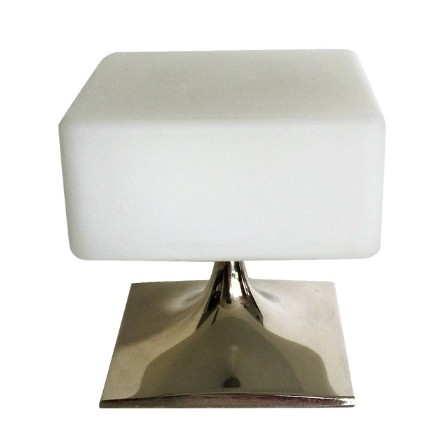 Mid-Century Square Laurel Lamp - Image 1 of 4